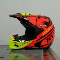 helm kyt cross over se red yellow