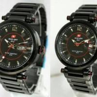 Jam Tangan Couple Swiss Army Dhc SA-3062 Original Black