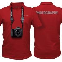 Kaos 3D - Canon Merah Berkerah - 3XL