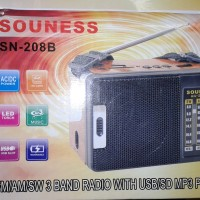 Radio Support USB / Micro SD MP3 Player + 1 LED Senter