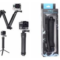 Monopod / Tropod 3 Way Action Camera Gopro Xiaomi Yi SJcam kogan 3Way