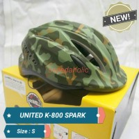 NEW!! Helm sepeda United K-800 SPARK warna green army