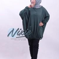 Baju Muslim Santai Unik Model Batwing / Blus Kalong Tunik Wanita Nixie