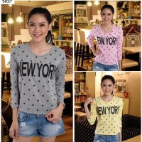 Crop Tee Longsleeves New York Stars #5837