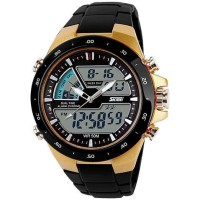 Jam Tangan Pria ORIGINAL SKMEI Dual Time Zone Digital Waterproof 5ATM