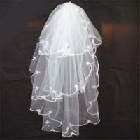 Jual Veil Gaun Pengantin Wedding Dress slayer import 3 layer tumpuk bordir Murah