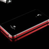Jual Alumunium Plus Tempered Glass Back Case For Xiaomi Mi4 Murah