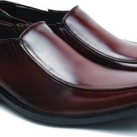 Sepatu Kerja Kulit Pria Basama Soga Coklat BFH 162