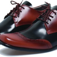 Sepatu Kerja Kulit Pria Basama Soga Coklat BFH 166