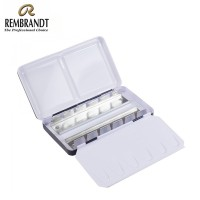 Rembrandt Watercolour Empty Metal Set For 12 Half Pans