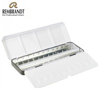 Rembrandt Watercolour Empty Metal Set For 24 Half Pans