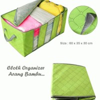 Large Cloth Organizer Arang Bambu (Anti Bakteri, Anti Bau)