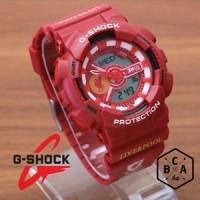 Casio G-Shock GA-110 KW FULL Merah LIVERPOOL FOOTBALL CLUB SERIES
