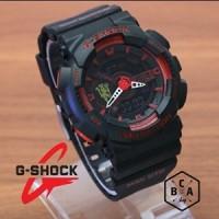 Casio G-Shock GA-110 KW Hitam Merah Manchester FOOTBALL CLUB SERIES