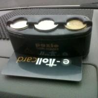 Jual Tempat Uang Koin / Coin & Toll Card Holder Di Mobil Murah
