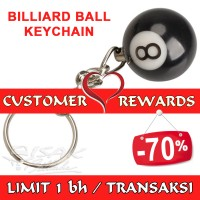 Customer Rewards - Keychain no. 8 Billiard Ball - Hadiah utk Pelanggan