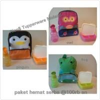 Tupperware Paket Hemat Plus Tas Karakter Anak Murah Lengkap