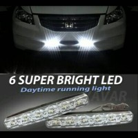 Jual lampu siang mobil DRL 6 led, dpt 2 pcs Murah