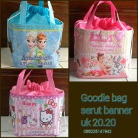 Goodie Bag Tas Souvenir Kado Ulang Tahun & Ultah serut custom