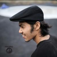 Freebird Flatcap Black / Newsboy / Topi Pelukis Hitam