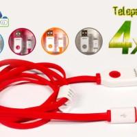 Kabel Data Charge Hippo Teleport 4x Fast Charging - Lightning 90cm
