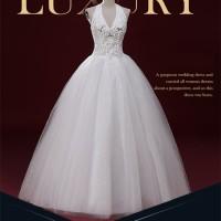 Gaun Pengantin Wedding Dress Import ball gown putih model lengan promo