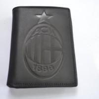 harga Dompet Kulit Pria Logo AC Milan Hitam Tokopedia.com