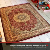 Karpet Permadani Import Antique Imperial 170x230cm - Motif 3 Brown Red