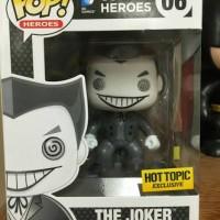 Funko Pop Joker Hot Topic Black and White