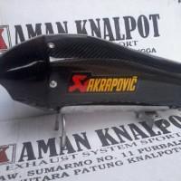 Knalpot Akra Black Diamon For New Cb150 / New Cbr150 / Nvl / R15 / R25 / Ninja