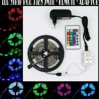 Jual LED Strip RGB 3528 5MTR Waterproof + Remote + Adaptor Murah