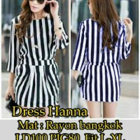 Dress Hanna / Fashion / Baju Wanita / Dress