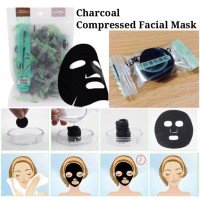[Ecer 1 Pc] Charcoal DIY Compressed Facial Mask - Masker Arang