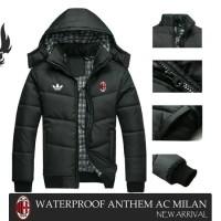 """""""Jaket / Hoodie Waterproof Anthem Ac Milan Black"""""""