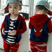 Set Polo Spider Kids Red