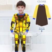 Setelan Piyama Gw 141 Cloak/sayap Motif Robot B