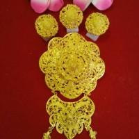 Bross Alpaka Bali Gold Cantik Mewah Aksesoris Hijab Kebaya
