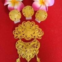 Alpaka Bross Bali Aksesoris Hijab Fashion Jewelry Gold