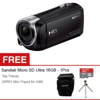 Sony Handycam HDR CX-405 Full HD - 9.2 Megapixels - Hitam