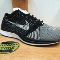 Sepatu Nike Flyknit Racer Black White Original Premium Quality