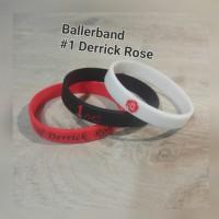 Gelang NBA Player Derrick Rose (Hitam Merah Putih)