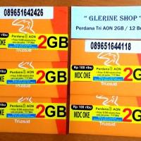 harga Kartu Perdana Internet Tri Three 3 Aon 2GB 2 GB Reguler 12 Bulan 1 Tokopedia.com
