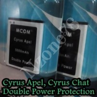 Baterai Cyrus Chat T2017 Cyrus Apel Mcom Double Power Protection