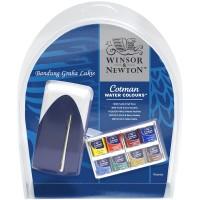WINSOR&NEWTON COTMAN WATER COLOURS MINI PLUS - 8 HALF PANS