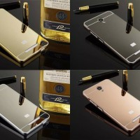 Bumper Case Xiaomi Redmi 2S Backcase Metal Hardcase Mirror Sliding