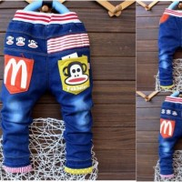 CELANA JEANS ANAK IMPORT PANJANG CHINO KIDS BOY DENIM PAUL FRANK SKINN