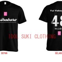 Kaos AKB48 Jersey style black (bisa pesan nama oshi)