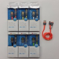 Vivan JML100 Kabel Data dan Charging 2 In 1 / Micro USB & Lightning