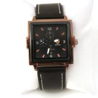 Ferrari Leather Watch Square- Brown