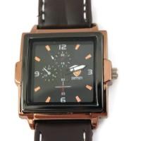 Ferrai Leather Watch Square- Brown